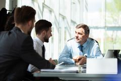 Working together. Business Team Discussion Meeting Corporate Concept. royalty free stock photography