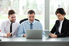 Working together. Business Team Discussion Meeting Corporate Concept. royalty free stock images