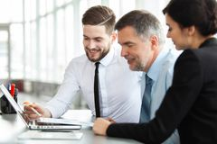 Working together. Business Team Discussion Meeting Corporate Concept. stock photography
