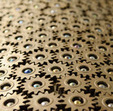 Working Together. Gears, fit together like a puzzle Royalty Free Stock Photo