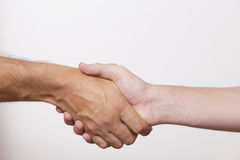 Working Together - Hand Shake with great spirit Royalty Free Stock Photo