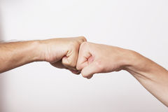 Working Together - Hand Shake with great spirit Stock Images