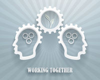 Working Together Illustration Background Stock Images