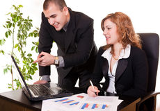 Working together in office Royalty Free Stock Photos