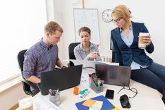 Working together in the office Stock Image
