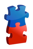 Working together puzzle concept Stock Image