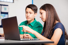 Working together at school Royalty Free Stock Images