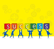 Working together For Success. Royalty Free Stock Photo