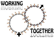 Working together team concept Stock Images