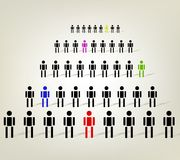 Working together team concept. And leadership Royalty Free Stock Photography