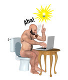 Working In The Toilet Inspired Ideas Illustration Stock Photography