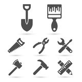 Working tool Icons on white. Vector elements Royalty Free Stock Photo