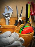 Working Tools Background. Working tools on table background Royalty Free Stock Photos
