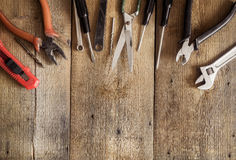 Working tools background with copy space Stock Image
