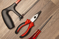 Working tools on a board Royalty Free Stock Images