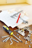Working tools for furniture assembly Royalty Free Stock Photo
