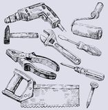 Working tools icon set Royalty Free Stock Photography