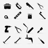 Working tools icon set. Stock Images