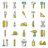 Working tools icon set on white background. Created For Mobile, Web, Decor, Print Products, Applications. Icon . Vector illustration Royalty Free Stock Photos