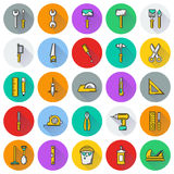 Working tools icon set on white background. Created For Mobile, Web, Decor, Print Products, Applications. Icon . Vector illustration Royalty Free Stock Photography