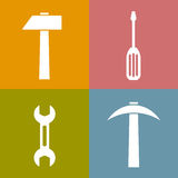 Working tools icons Royalty Free Stock Photography
