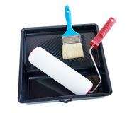 Working tools for painting and whitewashing Royalty Free Stock Images