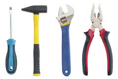 Working tools isolated Royalty Free Stock Images