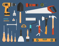 Working tools set Stock Photos