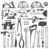 Working tools royalty free illustration