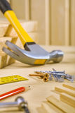 Working tools on table Royalty Free Stock Photo