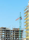 Working tower crane Royalty Free Stock Images
