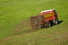 Working tractor Stock Photography