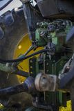Working Tractor Engine Stock Image