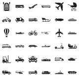 Working transport icons set, simple style Royalty Free Stock Photography