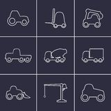 Working transport Icons Stock Images