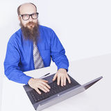 Working and typing - Businessman (Series) Stock Image
