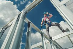 Working Using Safety Harness royalty free stock photography