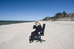 Working vacation Stock Photography