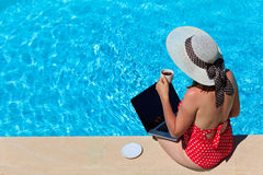 Working on vacation concept Royalty Free Stock Image