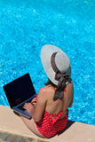 Working on vacation concept Stock Image