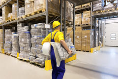 Working in warehouse Stock Photo