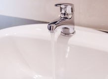 Water tap. Working water tap in bathroom Stock Photography