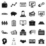 Working week icons set, simple style Royalty Free Stock Photography