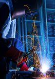 Working welder Stock Photo