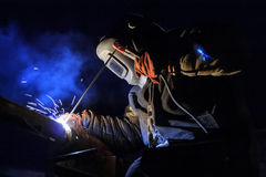 Working welder Royalty Free Stock Image