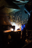 The working in Welding. Skill up Stock Photo