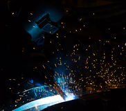 The working in Welding. Skill up Stock Photos