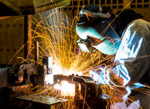 The working in Welding skill up Stock Image