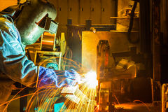 The working in Welding skill up Stock Photo