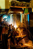 The working in Welding skill up Stock Images